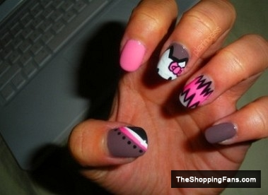 Hello kitty 20 nail art