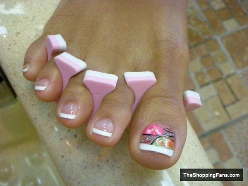 gorgeous toe nail art